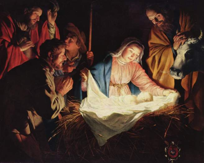 The Adoration of the Shepherds by Gerard van Honthorst.